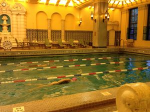 The hotel's 90-year old swimming pool is unique