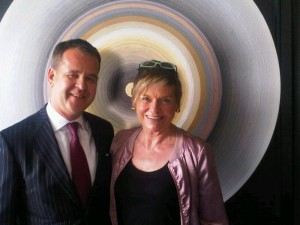 Bel-Air's general manager Christoph Moje by a Gary Lang artwork in the Bel-Air Bar