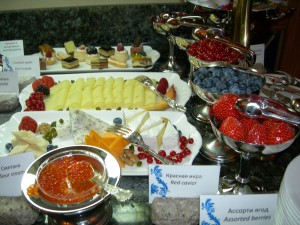 The Club Lounge breakfast at Radisson Royal Hotel Moscow