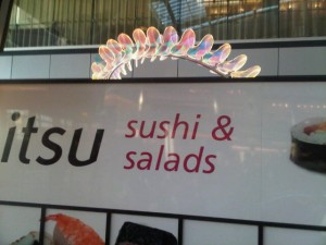Luxury hotels and travel - Sushi and saladas at Heathrow