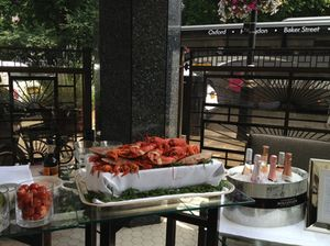 More on the terrace, food awaiting