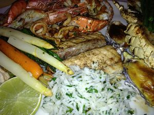 Next, a seafood plate