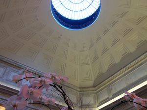 Looking up into the Ritz-Carlton dome