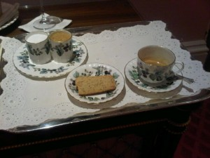 A cup of coffee, The Lanesborough luxury hotel style