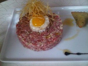 Luxury hotels and travel - Beef tartare, a culinary composition by Christophe Gillino of Four Seasons Hotel Marrakech