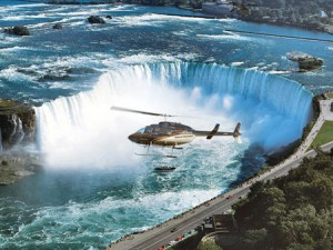 Why not fly over Niagara Falls for a change?