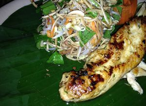 Banana leaves are plates and containers