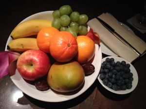 Fruits, on arrival