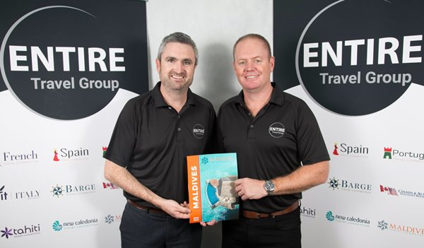 Entire Travel Group Sales & Marketing Director Greg McCallum and CEO Brad McDonnell
