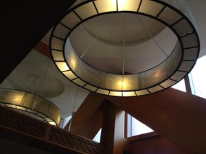 Looking up in the club lounge