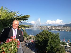Klaus Kabelitz on the rooftop spa balcony