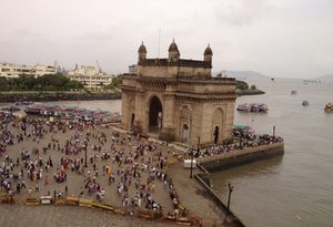 Looking down at Gateway of India