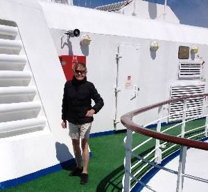luxury travel writer Mary Gostelow keeps fit aboard the Silver Cloud