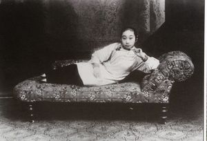 ..a languid courtesan of yesteryear