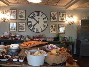 A small section of the copious breakfast buffet