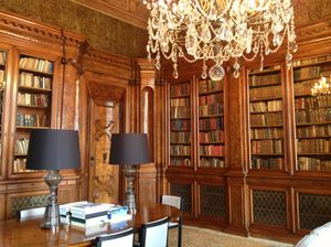 The library, with its historic book collection