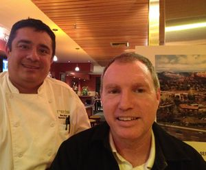 Chef Ron Muller and Ed Conway