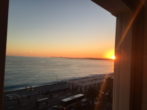 Sunset from room 505