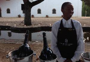 Laurent-Perrier was poured from magnums in luxury event