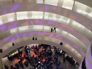 From the top of the Guggenheim's spiral