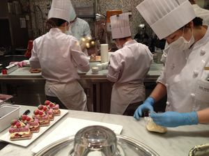 Watch the pastry cooks, for hours on end…