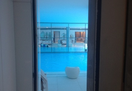 Looking through to the pool