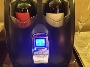 Wine cooler in the Club lounge