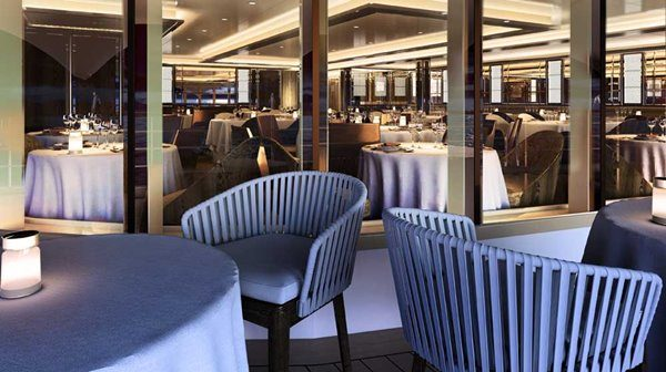 La Dame restaurant at Silver Moon luxury cruise ship by Silversea