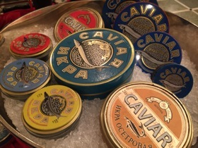 A selection of caviars