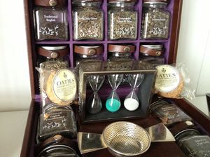 My tea chest - in a well-equipped room!