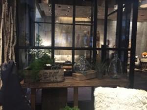 One corner of the lobby