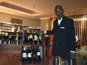 Ekipa's sommelier and his wine cart