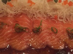 Salmon sashimi at MEE