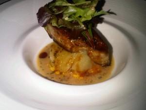 Hot foie gras at St Regis Singapore