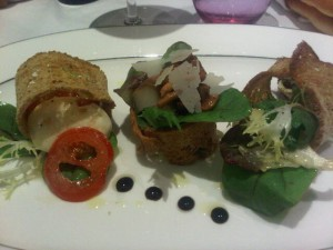 Luxury travel - Artistic salad, named for Elsa Maxwell at Elsa in Monte Carlo