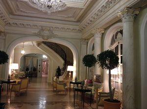 .. and along an elegant main-floor corridor…