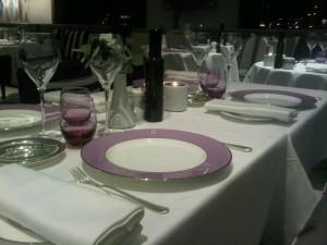 Luxury travel - Monte Carlo's Elsa restaurant dining table