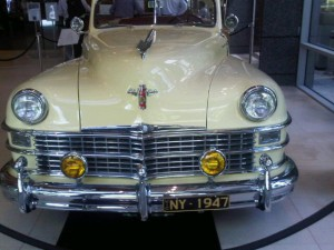 1947 Chrysler, on display in the lobby of Royal Automobile Club of Victoria RACV