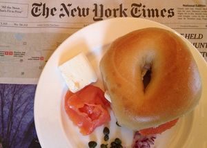 Lox and bagel, in Philadelphia's XIX restaurant