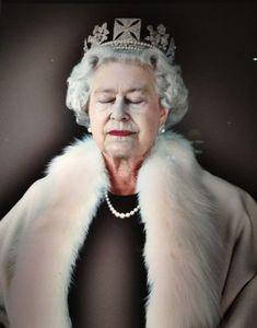 Her Majesty, above the Churchill's reception desk