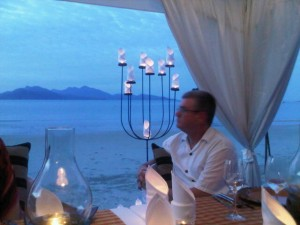 Dining at sunset - Andaman Sea - Datai- Langkawi beach