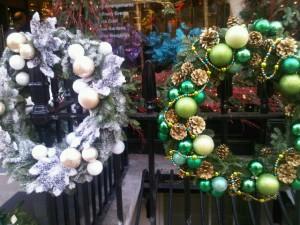 Christmas decorations, West Halkin Street, London