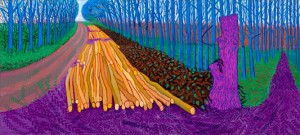 Winter scene by David Hockney (this one is 17 feet wide)