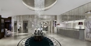 The fantasy of the hotel's re-done lobby
