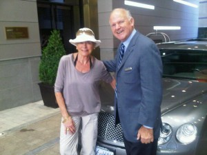 Jim Dudley and the Bentley at Rosewood Hotel Georgia