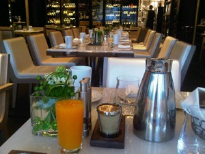 Breakfast at Hawksworth restaurant
