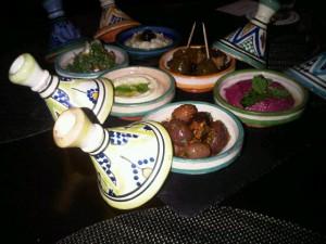 Canapés preceded dinner in Mazagan's casino