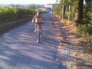Cycling at Castel Monastero, Tuscany