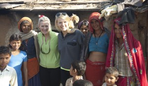 Mollie Fitzgerald, in green, and daughter Abby loved Luxury India