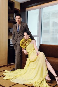 Donnie Yen and Cissy Wang at Landmark Mandarin Hong Kong
